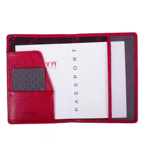 092-46 Обложка для паспорта KARYA 10*14 см. красн.