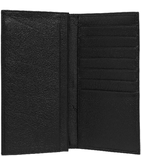 AS341MO/N Портмоне с отделением для мелочи 18х9,5 Черное