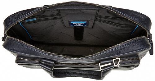 CA4027B3/BLU Сумка Piquadro Black Square синий нат.кожа 40 x 30 x 10 см