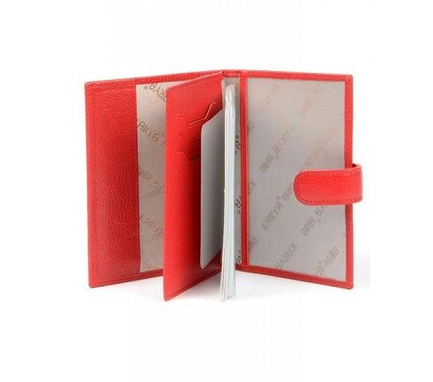 443-46 Обложка для документов KARYA 10*13,5 см. красн.