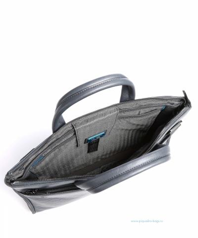 CA4021B3/BLU4  Сумка для ноутбука Piquadro Black Square синий натур. кожа