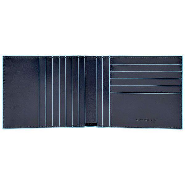 PU1241B2R/BLU2 Портмоне мужское 12,5*10  синий