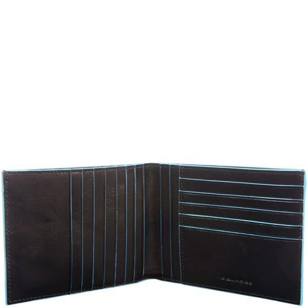 PU1241B2R/N Портмоне мужское 12.5*9.5*1.5 черное