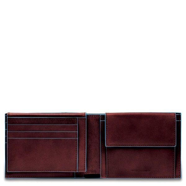 PU1392B2/MO Портмоне с отделением для мелочи 12.5*9.5*3 красно-коричневое