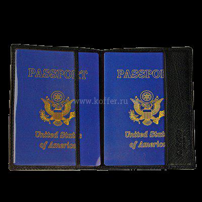 Др. Коффер X510130-01-04 обложка для паспорта 9,5х13,5см