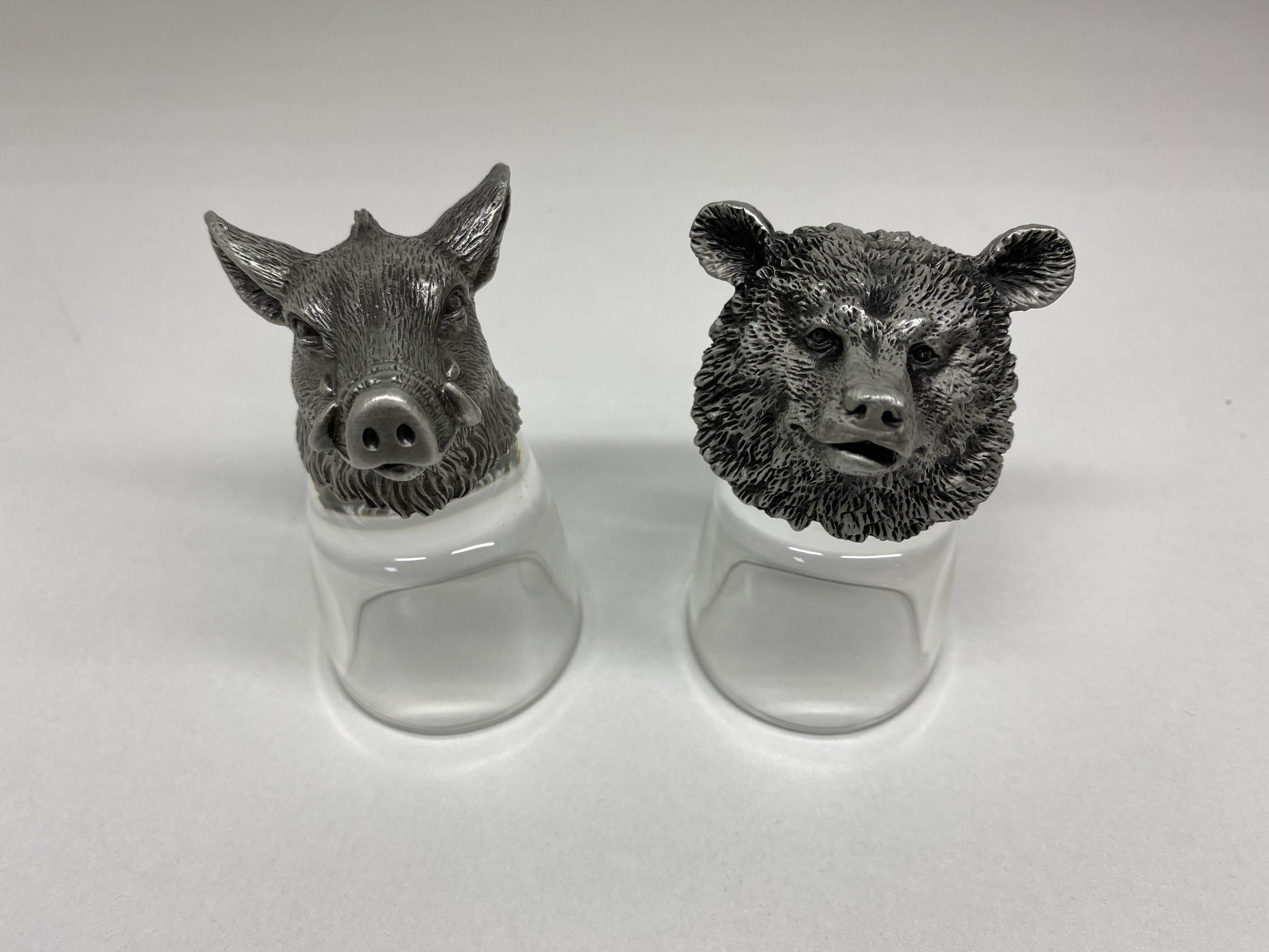 """Подарочный набор из 2 стопок """"Кабан-Медведь"""" - R-94701"""