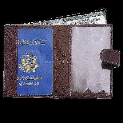 Др. Коффер X510137-02-09 обложка для паспорта с отделением д/автодокументов 10,5х13.5см