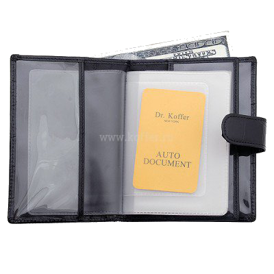 Др. Коффер X510137-102-04 обложка для паспорта с отделением д/автодокументов 10,5х13.5см