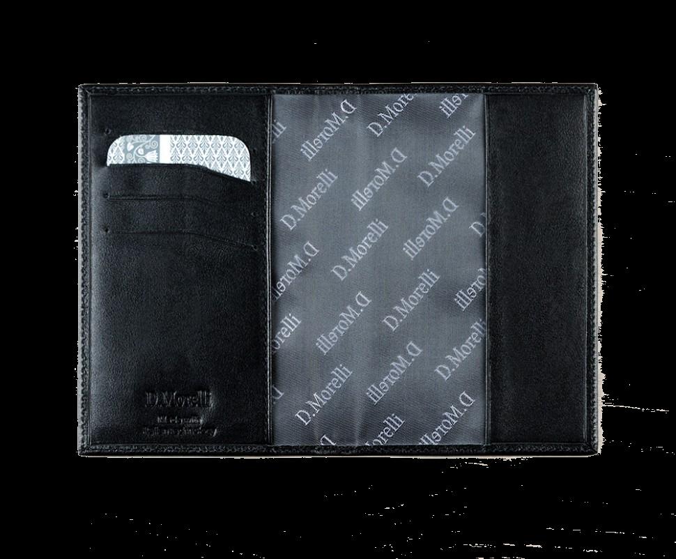 DM-PS02-K001 Обложка д/паспорта с отд. д/карт Black
