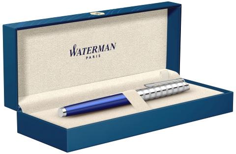 2117787 Ручка-роллер Waterman Hemisphere Deluxe Marine Blue F черные чернила подар.кор.