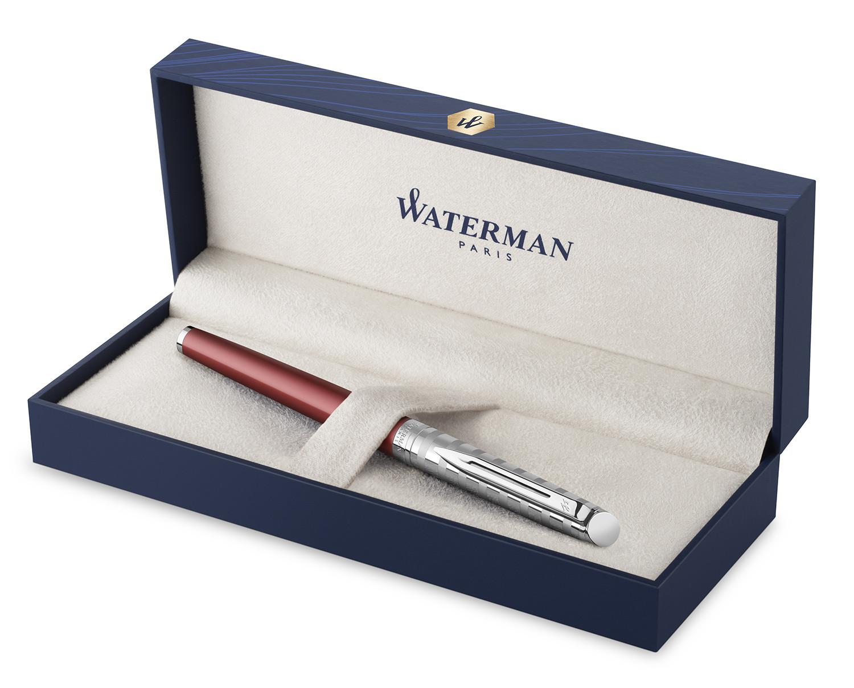 2118291 Ручка-роллер Waterman Hemisphere Deluxe Marine Red F черные чернила подар.кор.