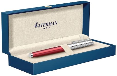 2117789 Ручка перьевая Waterman Hemisphere Deluxe Marine Red  F сталь нержавеющая