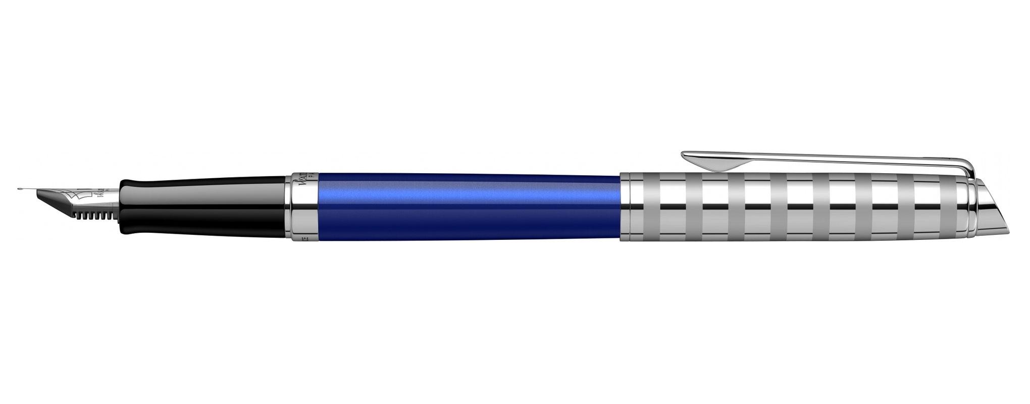 2117784 Ручка перьевая Waterman Hemisphere Deluxe Marine Blue F сталь нержавеющая