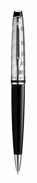 S0952360 Ручка шариковая Waterman Expert 3 Deluxe Black CT M синие чернила подар.кор.