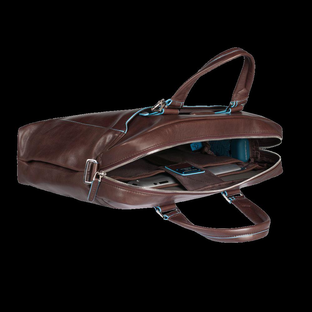CA3335B2/MO Сумка Piquadro blue натур.кожа коричневая 38,5*27*8,5