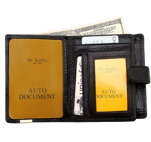 Др. Коффер X241791-02-04 портмоне с отделением для водительских прав 9,5х13см