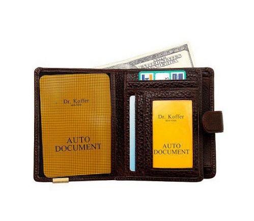 Др. Коффер X241791-02-09 портмоне с отделением для водительских прав 9,5х13см