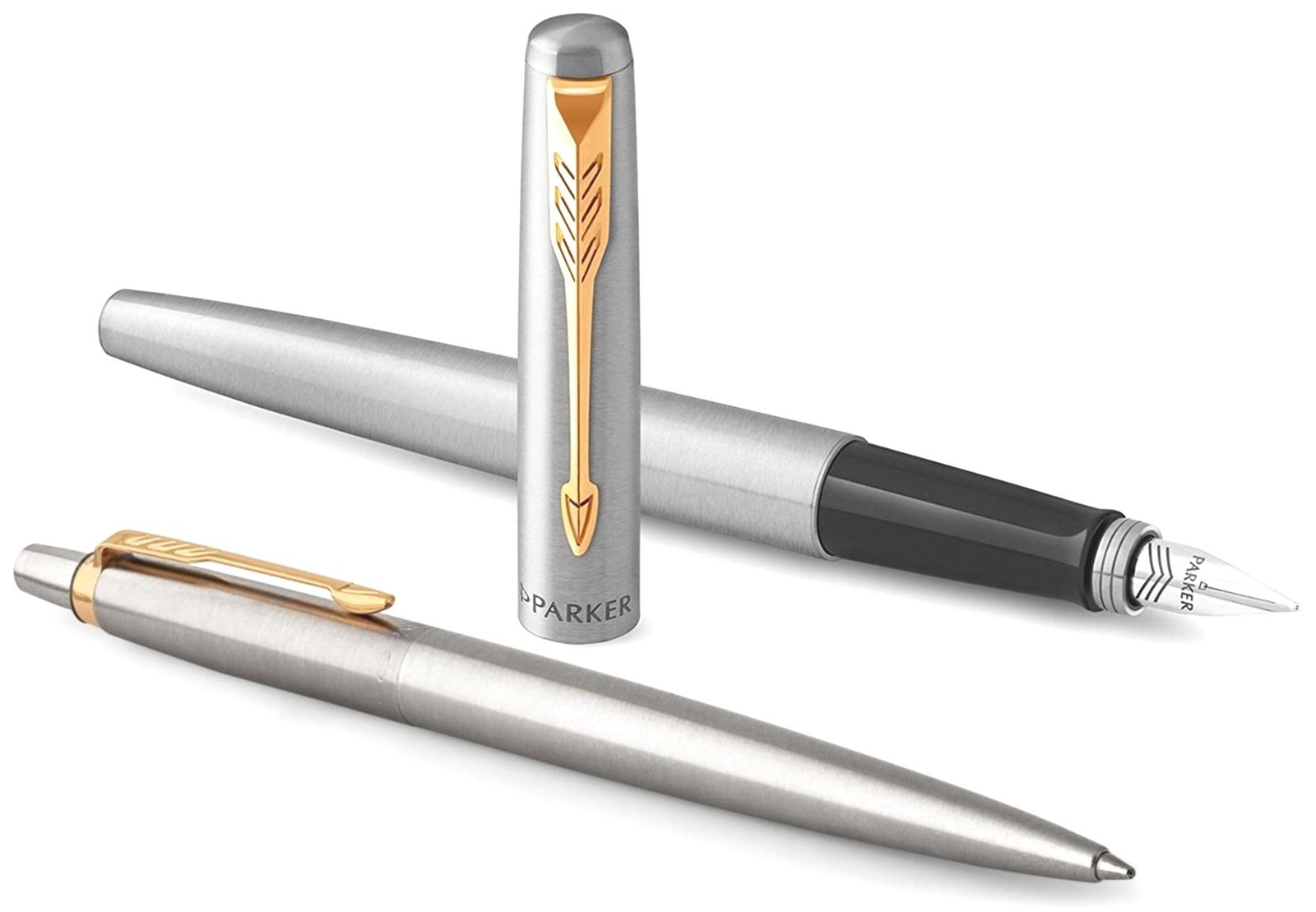 FK691 (2093257) Набор Parker Jotter Core Streel GT ручка перьевая, ручка шариковая