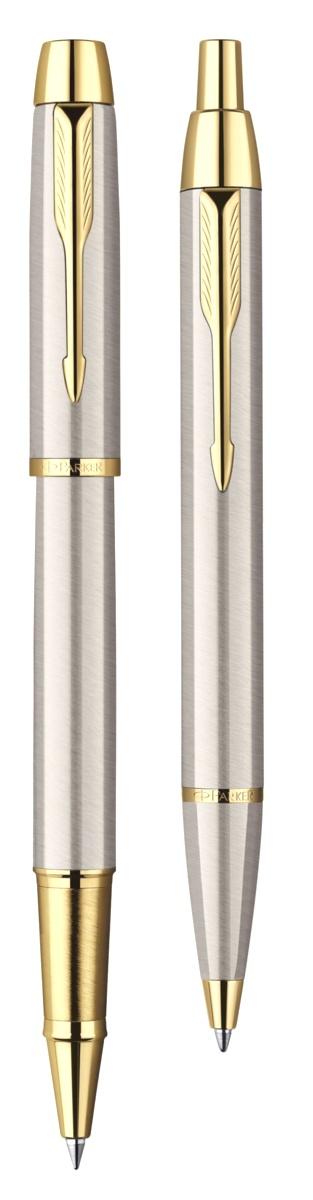 TK223 (2093217) Набор Parker IM Core Brushed Metal GT ручка роллер, ручка шариковая