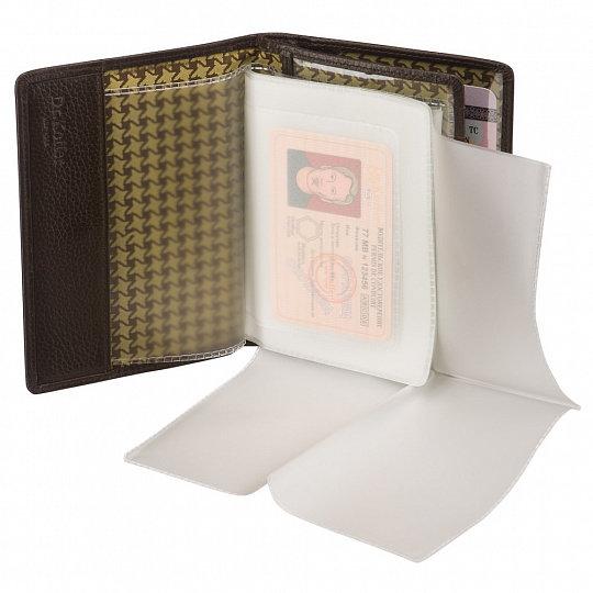 Др. Коффер  X510270-220-09 обложка для паспорта с отделением д/автодокументов