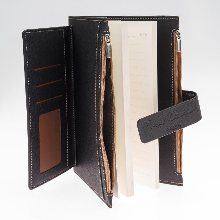 PC190-F04-1 Записная книжка Pierre Cardin в обложке. черная