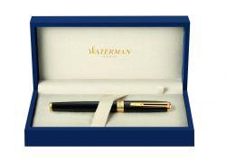 S0636990 Ручка роллер Waterman Exception Slim Black GT, латунь. позолота 23.3К