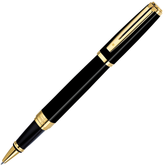 S0636810 Ручка-роллер Waterman Exception Ideal Black GT, латунь, позолота 23.3К