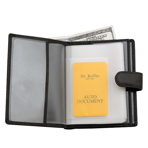 Др. Коффер X510137-02-04 обложка для паспорта с отделением д/автодокументов 10,5х13.5см