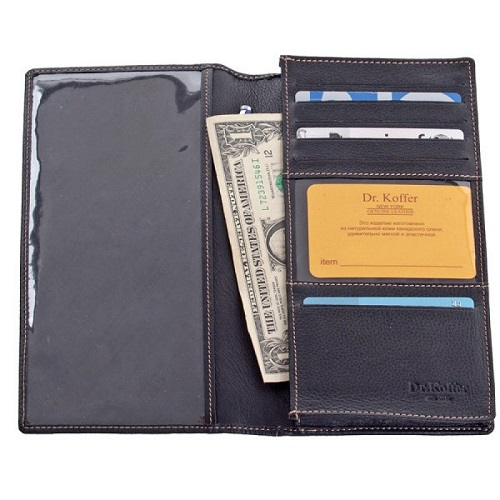 Др. Коффер X515265-01-04 портмоне для авиа билета 22х12см