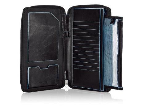 PP3246B2/N Мульти-портмоне на молнии 14*22,5*2,5 черное